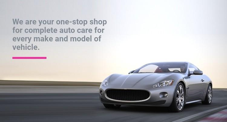 Car rental  CSS Template