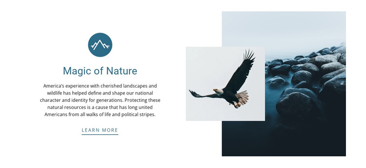 magic of nature HTML Template