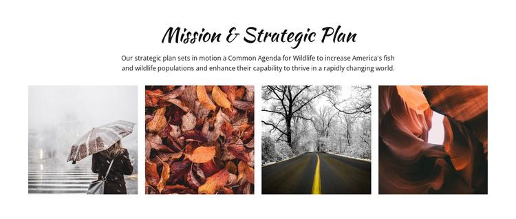 Strategic planning process HTML Template