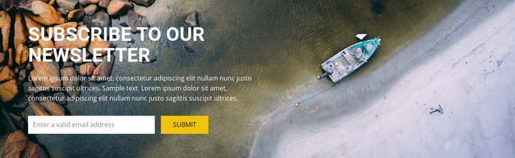 Subcribe for top travel inspiration Website Mockup