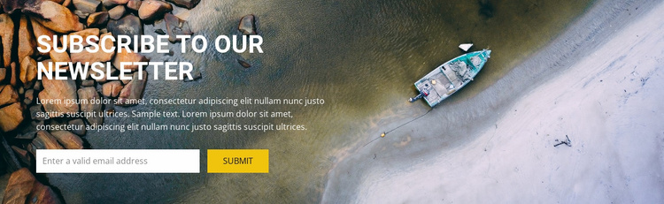 Subcribe for top travel inspiration Website Template
