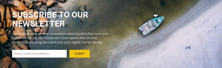 Subcribe for top travel inspiration WordPress Website Builder