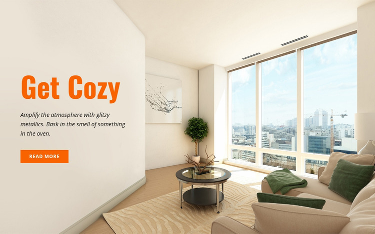 Living spaces Website Mockup