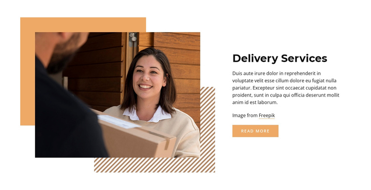 Order delivery One Page Template