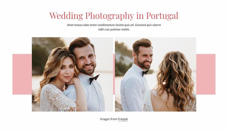 Wedding in Portugal Website Template