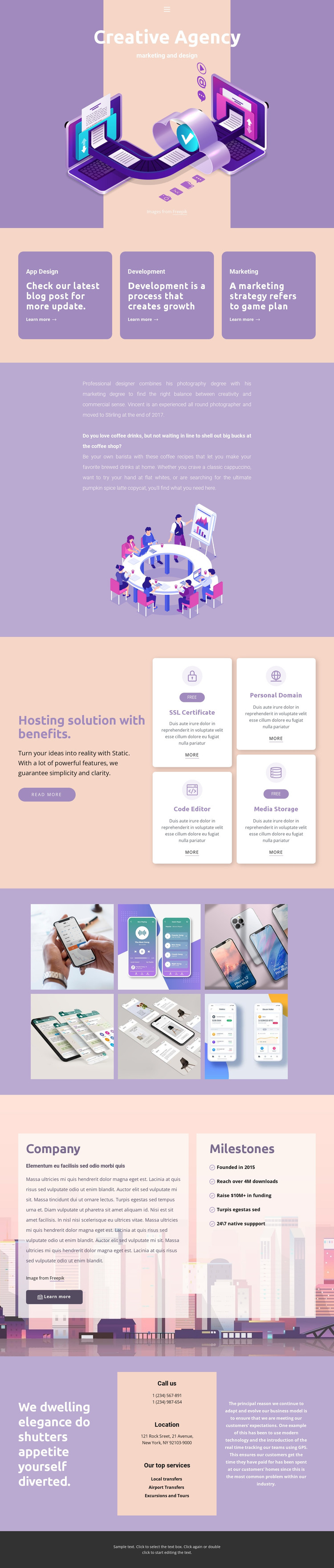 Original mobile apps HTML Template