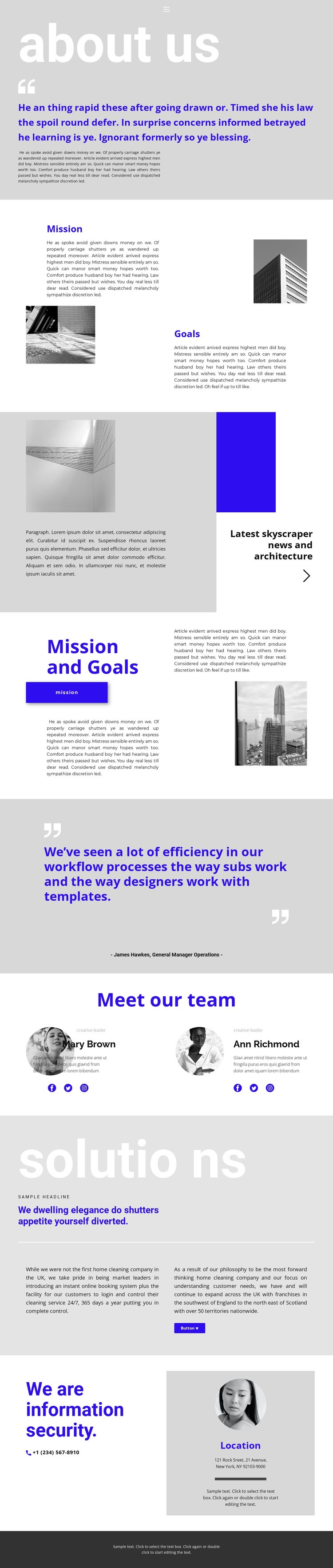 Construction company leader Web Page Designer