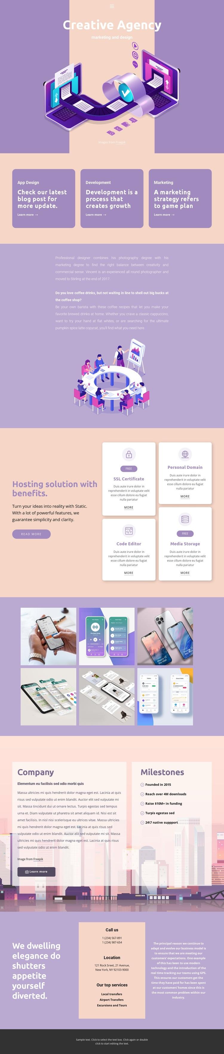 Original mobile apps Web Page Designer