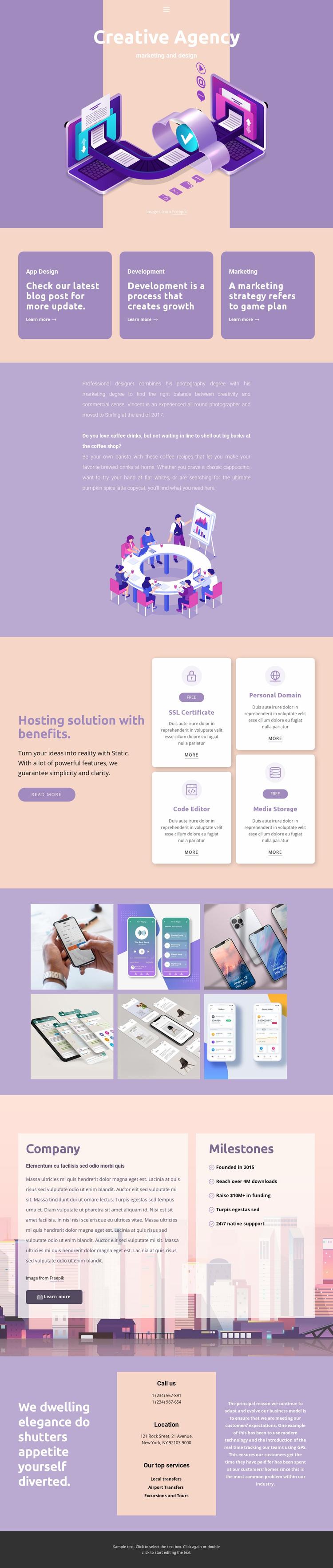 Original mobile apps Website Template
