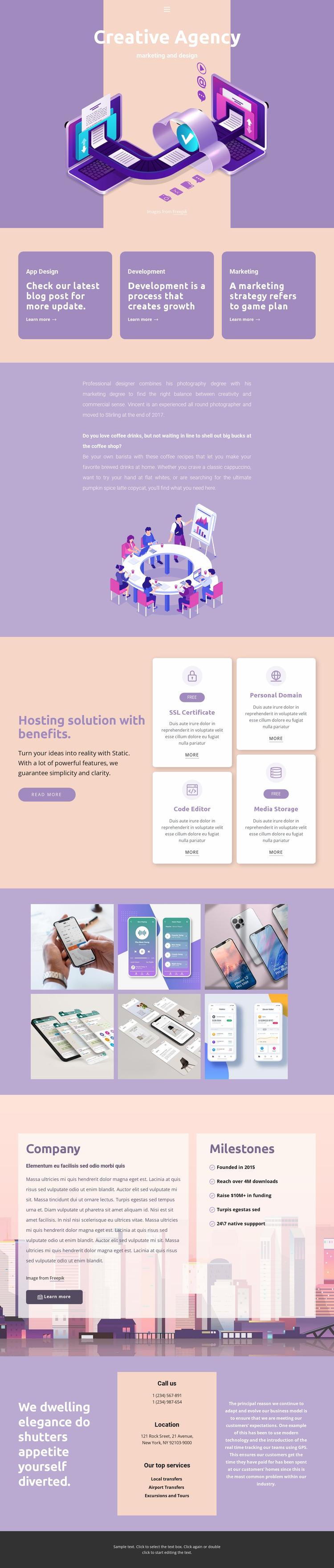 Original mobile apps WordPress Website Builder