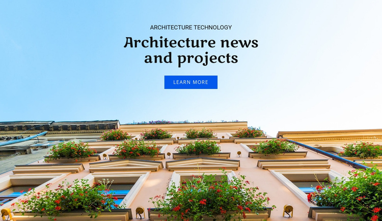 Architecture news and projects  Website Template