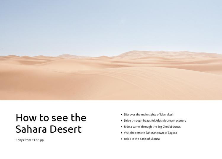 Sahara desert tours HTML Template