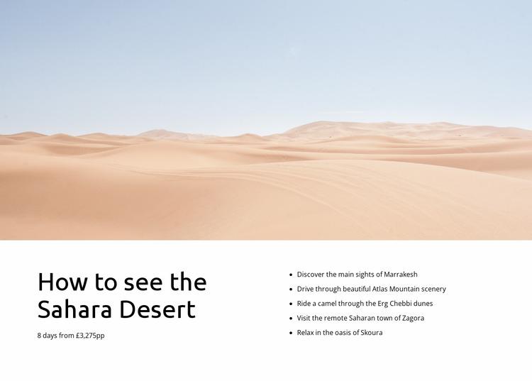 Sahara desert tours Html Website Builder