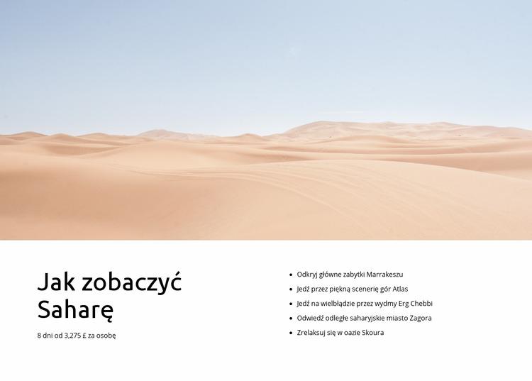 Wycieczki na Saharze Szablon Joomla