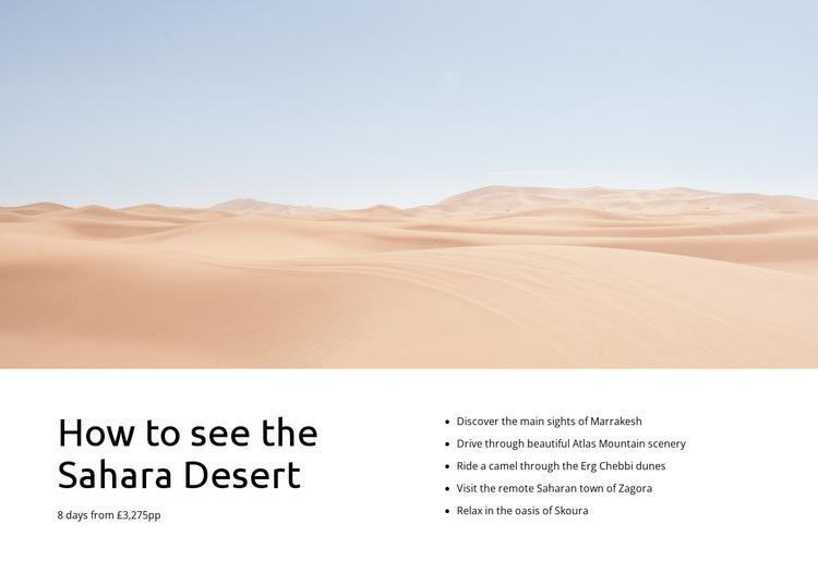 Sahara desert tours Template