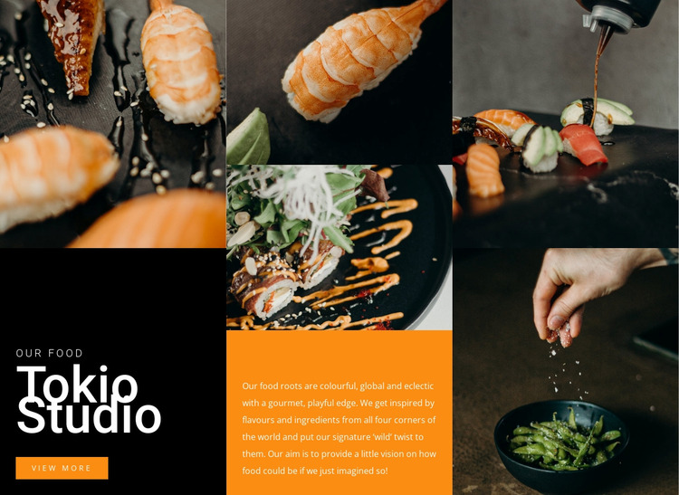 Tasty sushi Studio WordPress Website Builder