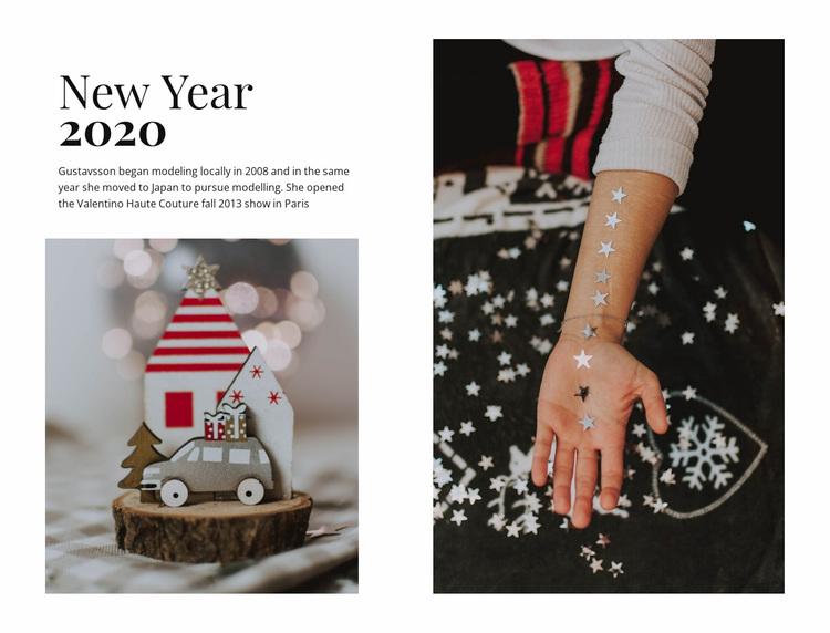 New Year 2020 Website Design