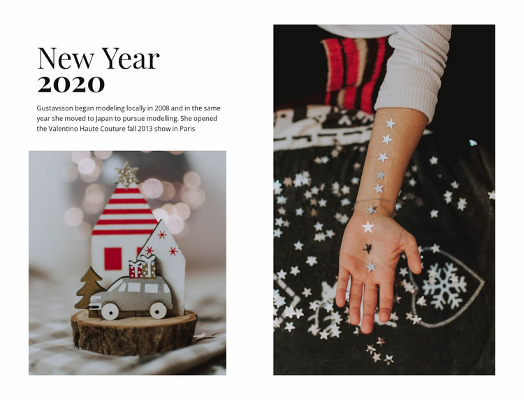 New Year 2020 Website Template