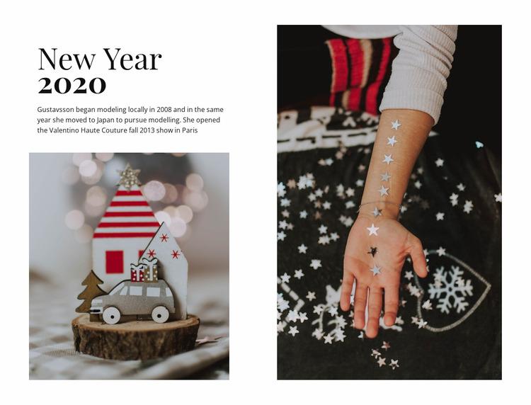 New Year 2020 WordPress Website Builder
