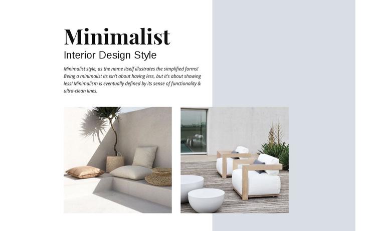 Minimalist Interior Design Joomla Page Builder