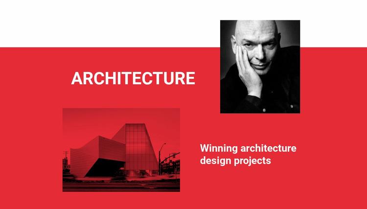 Winning architecture Website Template