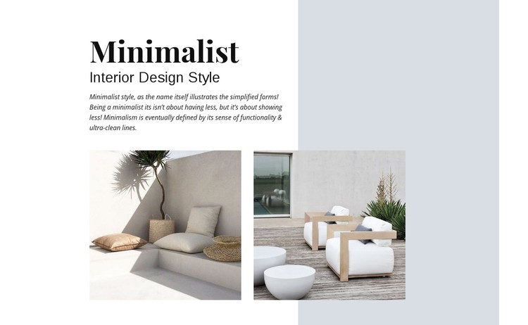 Minimalist Interior Design WordPress Template