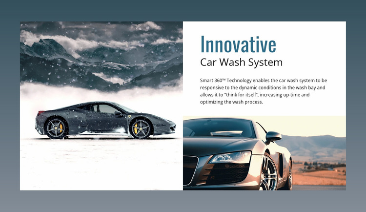 Clean your car in 10 minutes Website Mockup