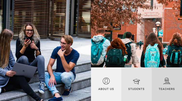 About our university Website Template