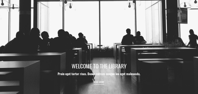 Educational library Web Design