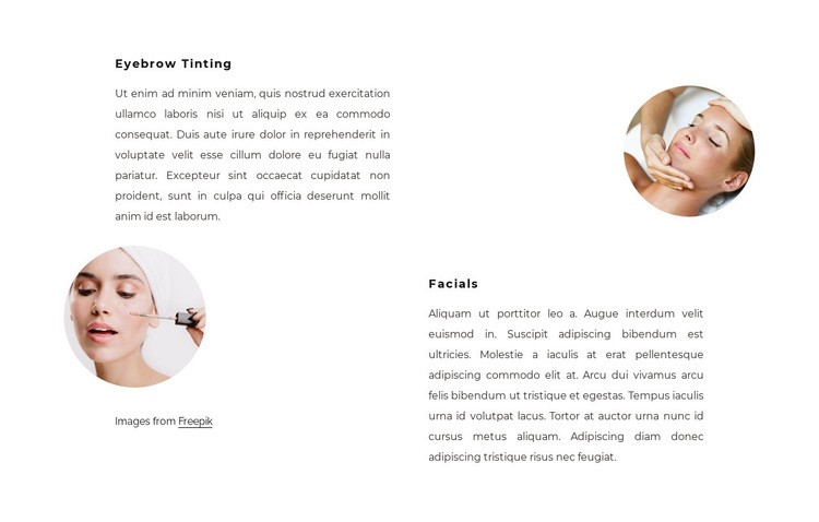 Therapeutic treatments Html Code Example