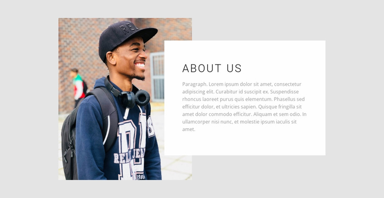 About our college Website Template