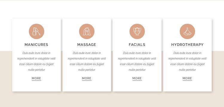 Treatments list Website Template
