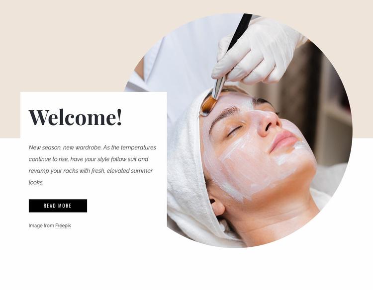 Corrective spa facial Website Template