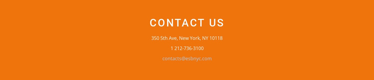 Contact information on background Website Template