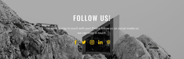 Follow and enjoy to us Landing Page