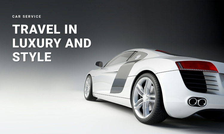 Car transportation service Website Design
