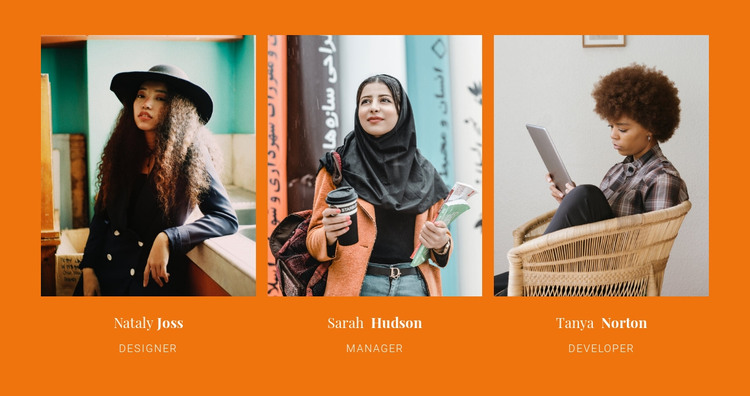 Our best woman team HTML Template