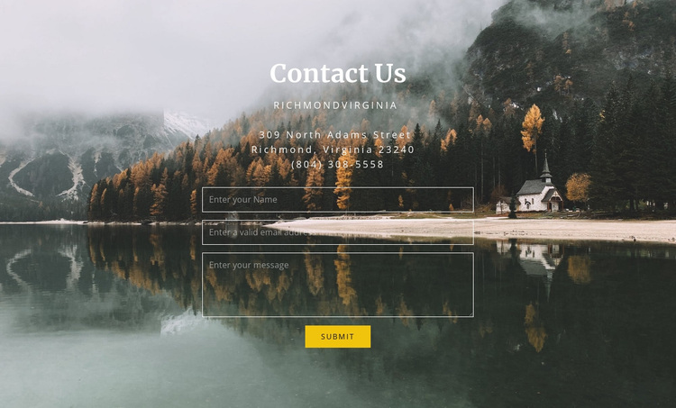 Guest house contacts Joomla Page Builder