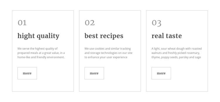 Healthy restaurant meals Website Builder Software