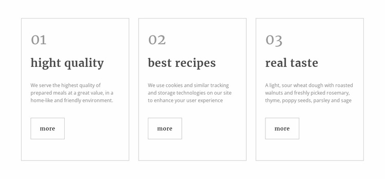 Healthy restaurant meals Landing Page