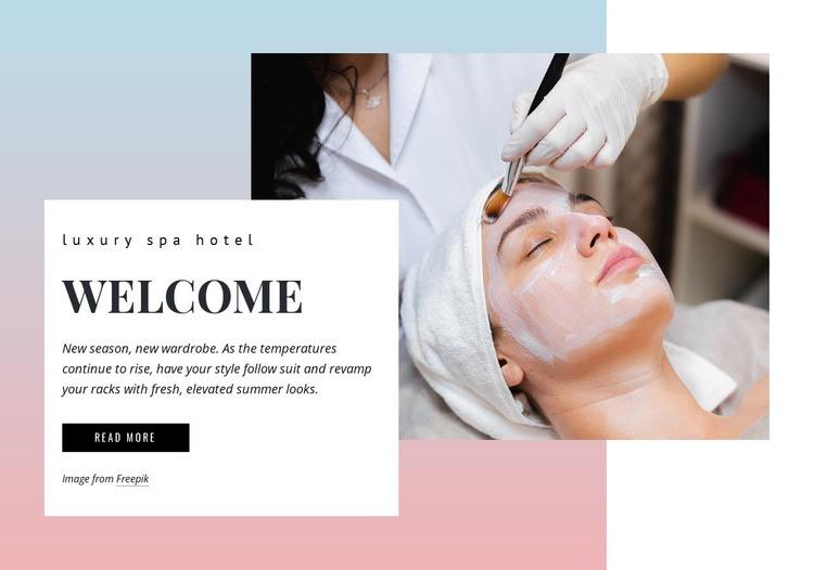 Luxury spa Homepage Design