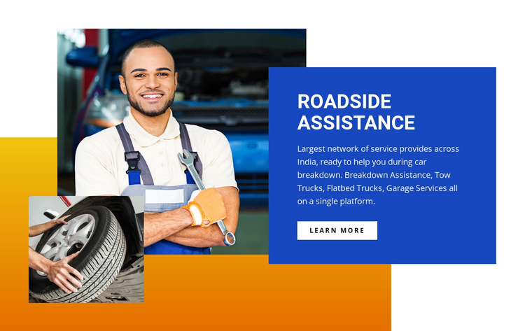 Roadside assistance center Website Builder Software