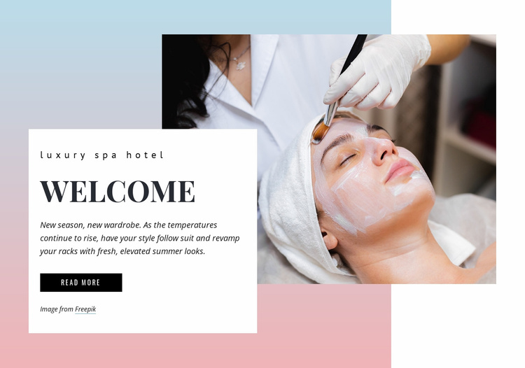 Luxury spa Website Template