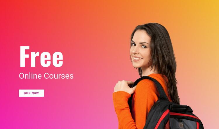 Online leadership training Website Template