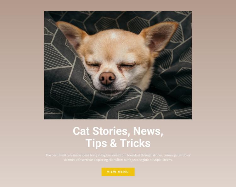 Pet stories HTML Template