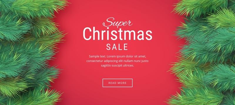 Christmas sale Web Page Design