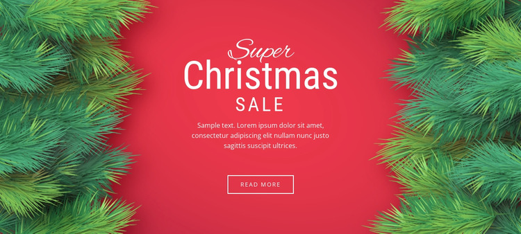 Christmas sale WordPress Website Builder