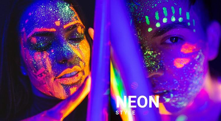 Neon photo Website Mockup