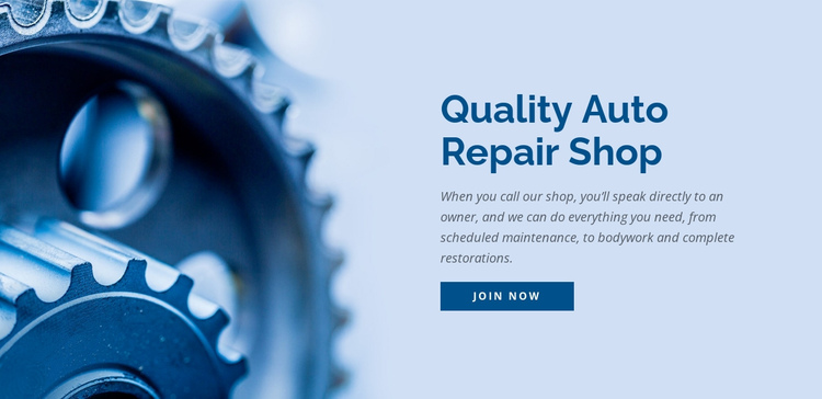 Car repair shop One Page Template