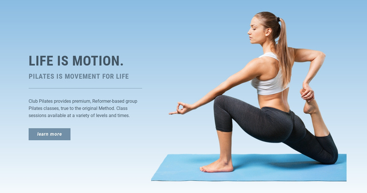 Your body needs Pilates One Page Template